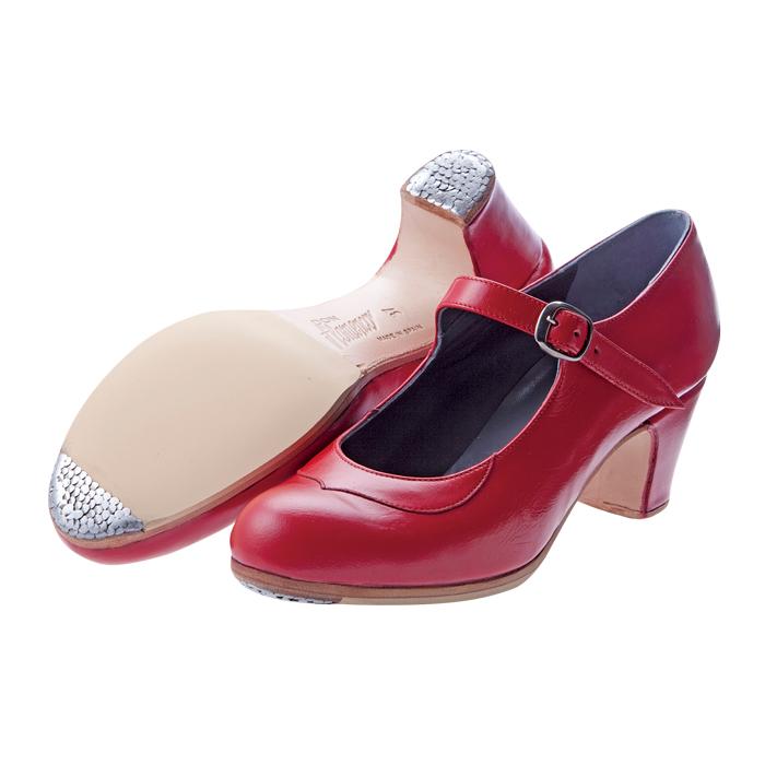 耐久性や安定感に優れたシューズ 迷ったらまずはコレ 〈ドン フラメンコ〉セミプロ レッド革 お得 普通幅 フラメンコシューズ 靴 B サパトス 《週末限定タイムセール》 zapatos
