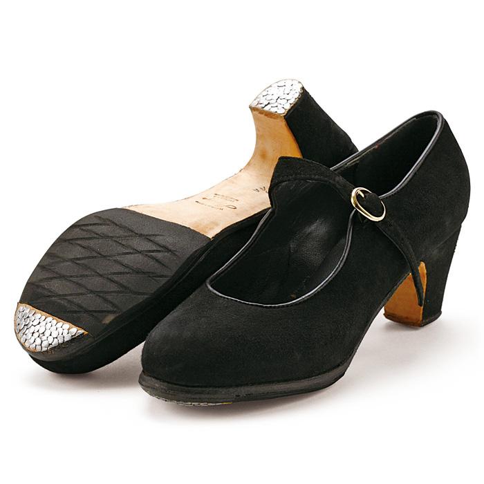 【在庫限り】〈アマジャ〉プロ/黒スエード【幅広(C)】【靴】【フラメンコシューズ】サパトス zapatos