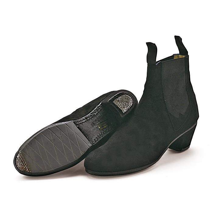 〈メンケス〉プロ・ブーツ/黒スエード【男性用・メンズ】【幅広(C)】【靴】【フラメンコシューズ】ボタ