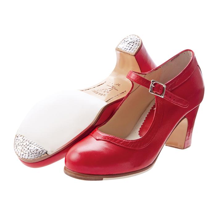 【受注生産】【7月上旬~中旬入荷】〈ブレリア・サバテス〉プロ レッド革【幅広(C)】【靴】【フラメンコシューズ】サパトス zapatos