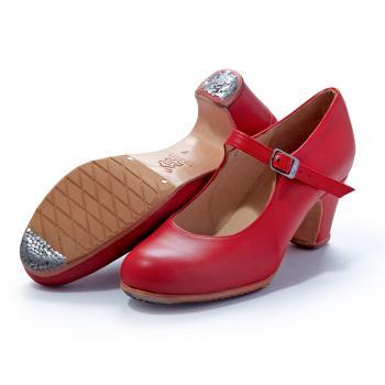 【受注生産】【7月上~中旬入荷】〈メンケス〉セミプロ ソレア レッド革【幅広(C)】【靴】【フラメンコシューズ】サパトス zapatos