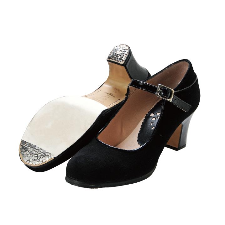 〈ブレリア・サバテス〉プロ  クラスCLASS ブラック【幅広(C)】【靴】【フラメンコシューズ】サパトス zapatos