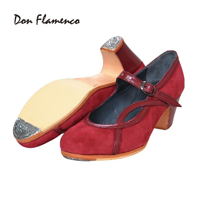 〈ドン・フラメンコ〉セミプロ ALAMEDA アラメダ / ワイン【普通幅(B)】【靴】【フラメンコシューズ】サパトス zapatos