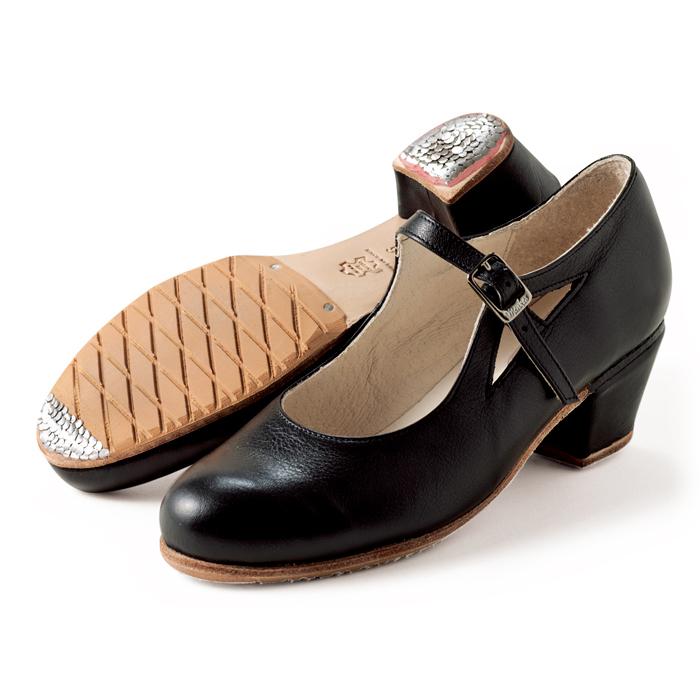 〈メンケス〉セミプロ・マルティネーテ/黒革【幅広(C)】【靴】【フラメンコシューズ】サパトス zapatos