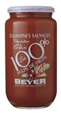 【フランス産】野バラのピューレ 1kg瓶 フランス・アルザス地方のエグランティーヌの赤い実を使用したピューレです。