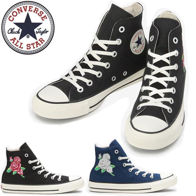 Converse CONVERSE ALL STAR ROSE-EMBROIDERY HI all-stars Rose embroidery  high reduction