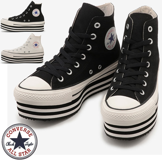 Converse CONVERSE ALL STAR CHUNKYLINE HI all-stars chunkey line high  thickness bottom sneakers reduction