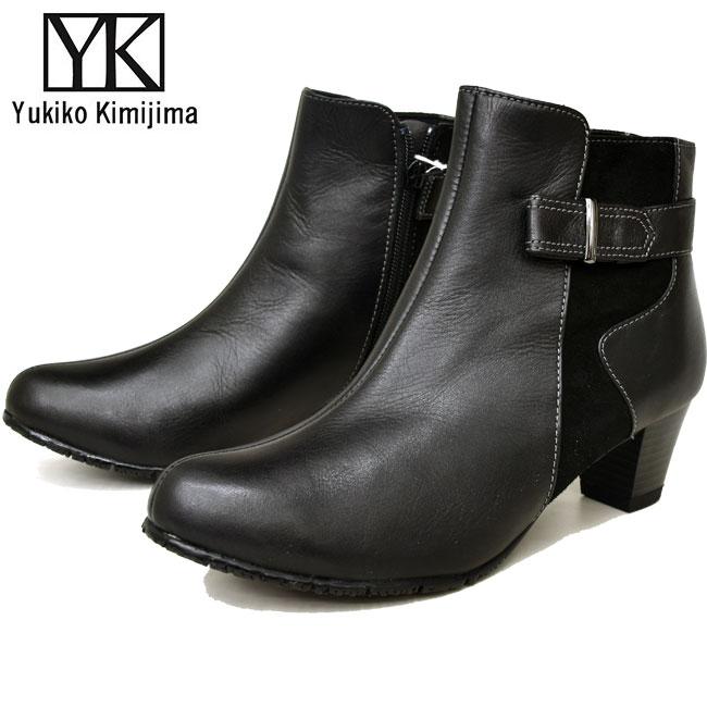 【クーポンのご利用でさらに10%OFF】ユキコ キミジマ Yukiko Kimijima ショートブーツ ブーティー レディース 本革 レザー 7632キャッシュレス 還元 消費者還元