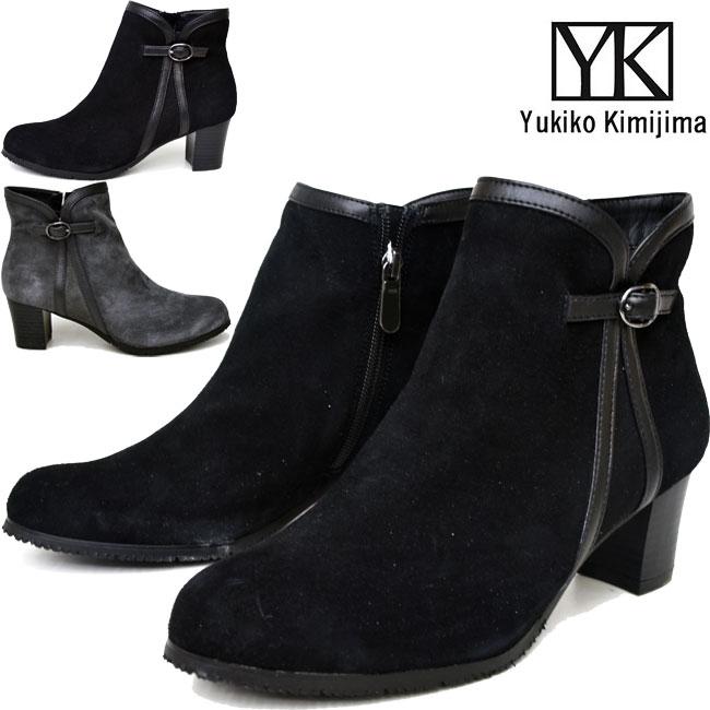 【クーポンのご利用でさらに10%OFF】ユキコ キミジマ Yukiko Kimijima ショートブーツ ブーティー レディース 本革 レザー 6201キャッシュレス 還元 消費者還元