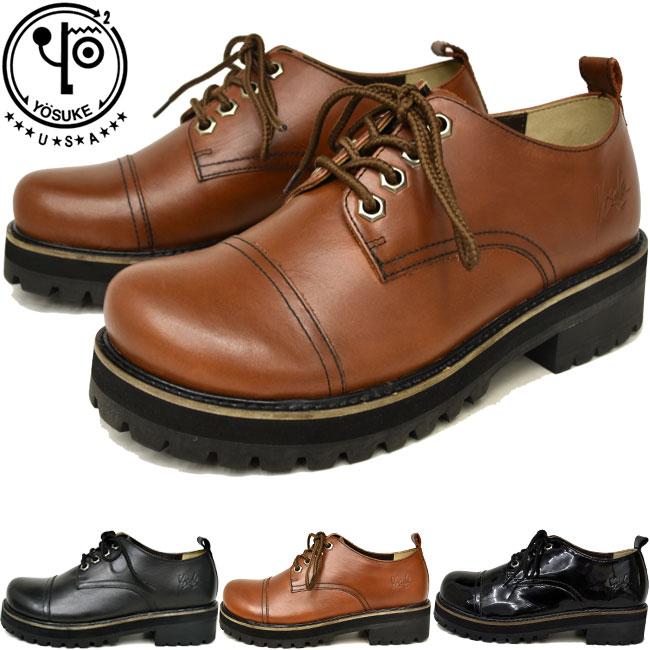 あす楽 送料無料 レースアップシューズ レザー 本革 靴 パンプス クーポン対象商品 全4色 レディース 22.5-25 ヨースケ 正規品送料無料 激安挑戦中 YOSUKE セール 5010051