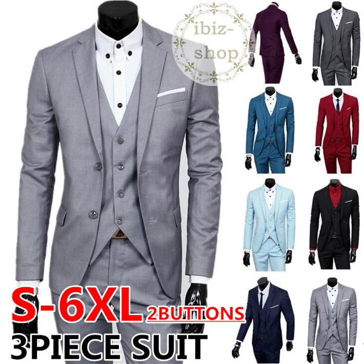 S-6XL スリムスーツ 2Bスーツ セットアップ メンズ カジュアルスーツ メンズスーツ フォーマルスーツ 紳士服 ビジネススーツ リクルートスーツ 3ピース スリーピース 面接 入学式 結婚式 二次会 2次会 スリーピース 大きめ 大きいサイズ おしゃれスーツ