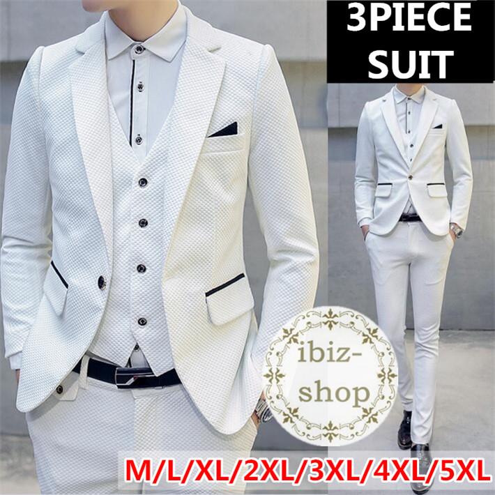 スーツ 3ピース スーツ スリムスーツ セットアップ メンズ 大きいサイズ カジュアルスーツ ビジネススーツ リクルートスーツ スリーピース卒業式通勤結婚式 二次会スリーピース スーツ メンズ  大きいサイズ オシャレスーツ