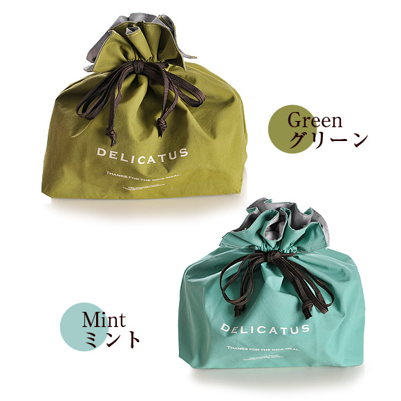 Best quality brand delicate coating DrawString /DELICATUS / drawstring bags and insulated warm and repellent water / Bento accessories.