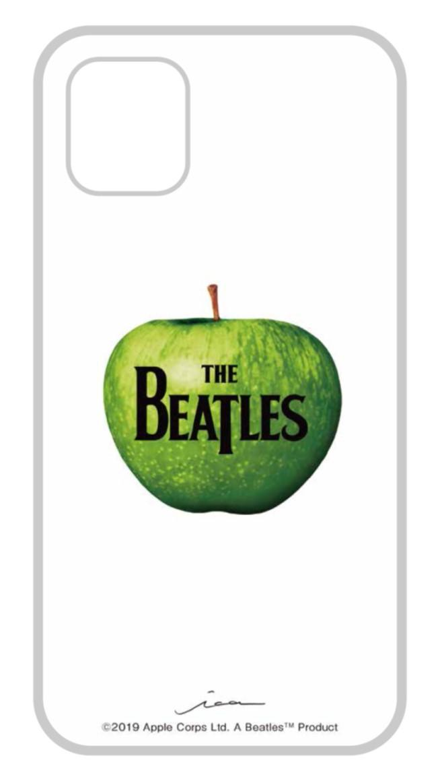 5☆大好評 ビートルズの名盤ジャケットデザインを施したiPhoneケース iPhone 11 Pro Max対応 ビートルズ公式商品 売れ筋 ガラスケース ビートルズ 015 ロゴ アップル マーク Max用