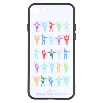 ビートルズの名盤ジャケットデザインを施したiPhoneケース iPhone8 7 SE2対応 日時指定 ビートルズ公式商品 ガラスケース COLOR 超激安特価 7用 iPhone 8 HELP