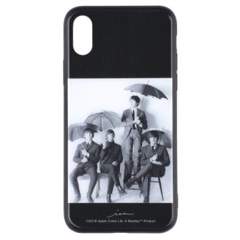 ビートルズの名盤ジャケットデザインを施したiPhoneケース iPhone XS X対応 ビートルズ公式商品 ガラスケース 全品送料無料 アンブレラ 019 100%品質保証! X用