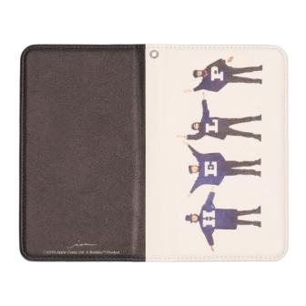 ビートルズの名盤ジャケットデザインを施した手帳型 Lサイズ 他機種対応 激安 信頼 ビートルズ公式商品 007 HELP マルチケース手帳型
