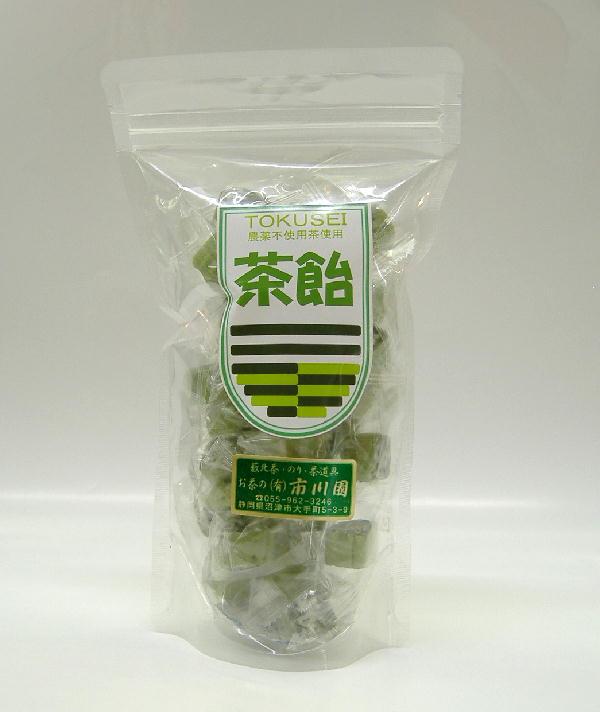 静岡川根産 最安値 商舗 農薬不使用のお茶で作りました 個包装です 茶飴120g入 農薬不使用 静岡茶の通販 市川園 沼津 カテキン含有