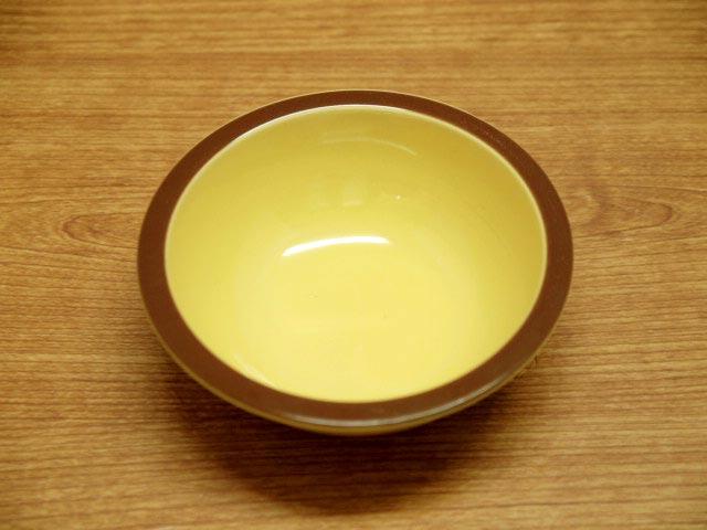 茶色いリムが可愛い明るいカラーのミニボウル ビビッドボウル 本店 イエロー 超安い