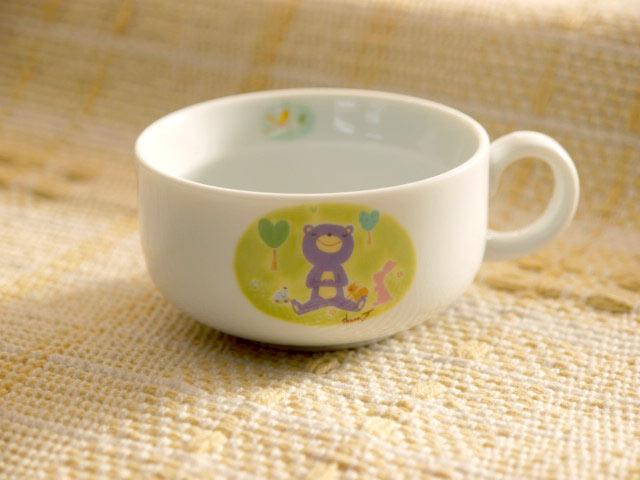 と~っても可愛い森の仲間たちがお皿に登場 人気イラストレータのイラスト入り スープカップ 安心の定価販売 森のアイドルreg; 輸入