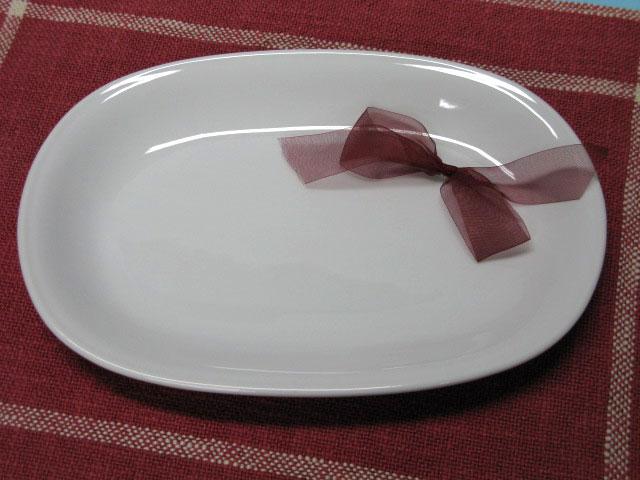 2020秋冬新作 少し深めの楕円型パスタ皿 高い素材 アウトレット オーバル 玉渕 パスタ皿 ホワイト