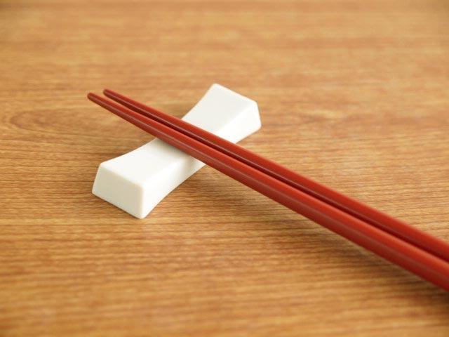 くびれ型箸置き 低価格 最安値 ホワイト