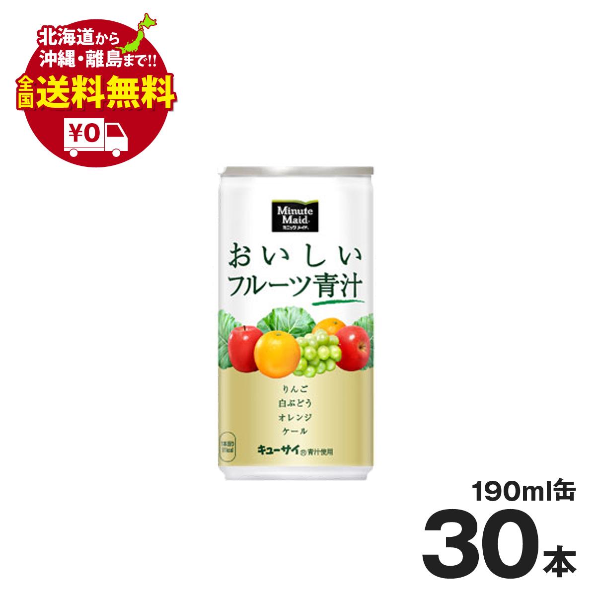 ミニッツメイド 美味しいフルーツ青汁 190ml缶 30本セット