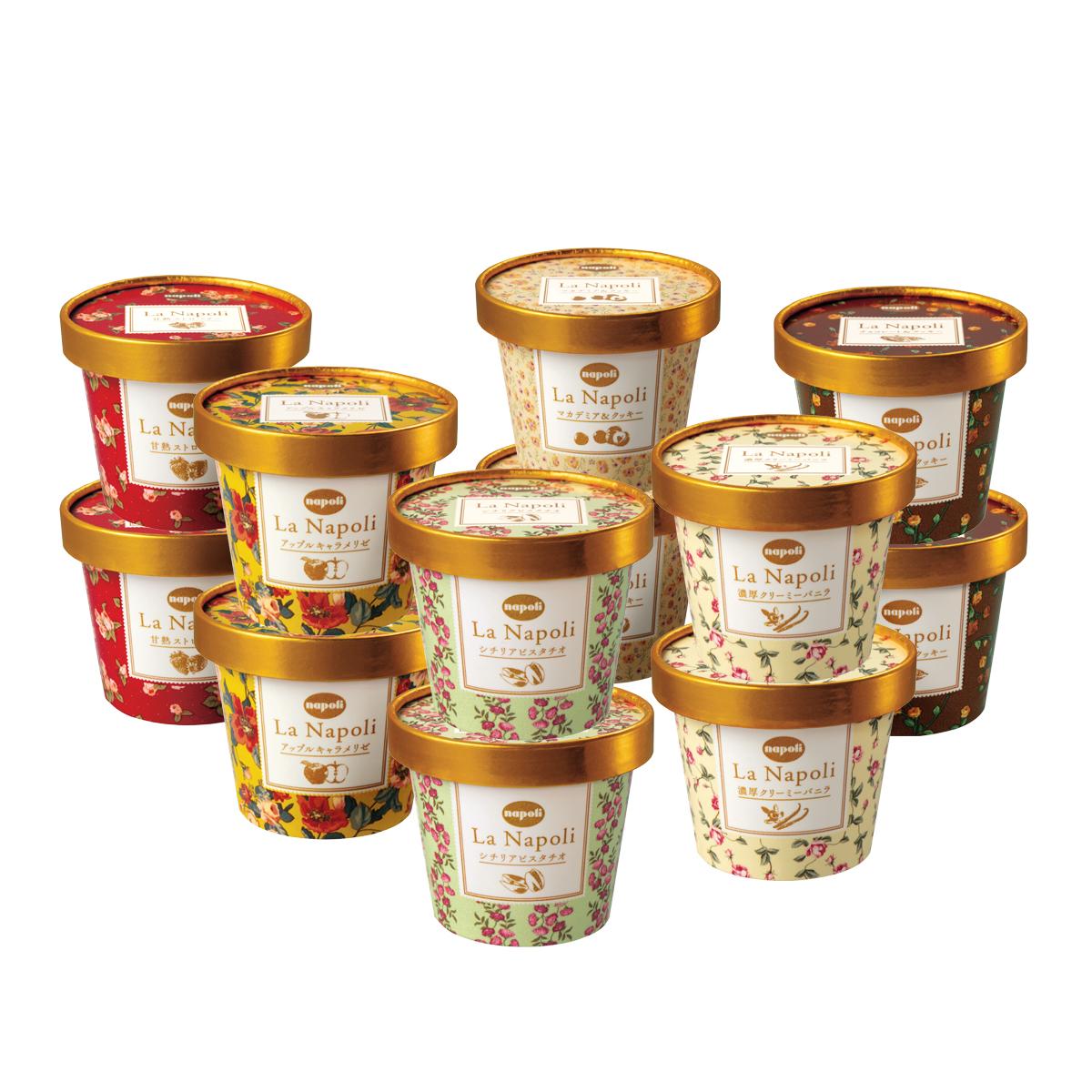 贅沢な素材にこだわったリッチな味わいのプレミアアイス お中元におすすめ ラ 購入 LN-12 ナポリの人気の贅沢12個セット 商品追加値下げ在庫復活