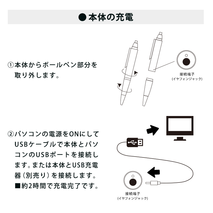 コンパクト あす楽 ペンボイス kiyorak 対応 IC-P05BK ボイスレコーダー 内蔵 録音機 ポイント消化 メモリ ペン型 語学勉強 4GB ボールペン型 キヨラカ 長時間 高音質 最長48時間録音 1年保証 USB 送料無料 2018年バージョン 操作簡単 ICレコーダー BK Penboisu