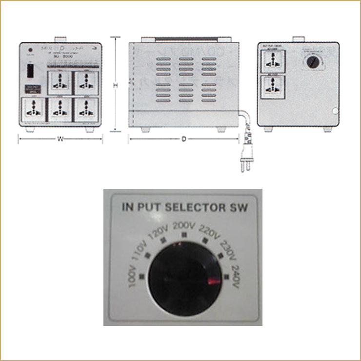 Swallow electric multi-TRANS SU-3000 AC100, 110_120, 200_220, 230_240 V-buck-AC100, 110_120, 200_220, 230_240 V (capacity 3000 W)