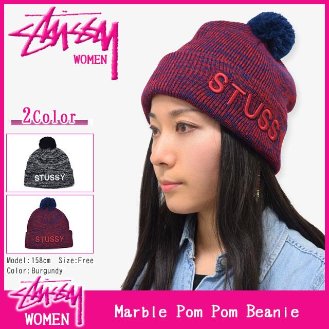 Stussy STUSSY Womens Marble Pom Pom Beanie (stussy beanie knit hats girls ladies  Womens ladies ladies ladies Ladys WOMENS Dancewear 232047 Stussy stussy ... 664bb4746b