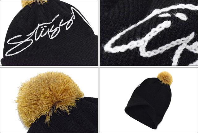Stussy STUSSY Womens Goldie Pom Pom Beanie (stussy beanie knit hats girls ladies  Womens ladies ladies ladies Ladys WOMENS Dancewear 232056 Stussy stussy ... 2f13b14542
