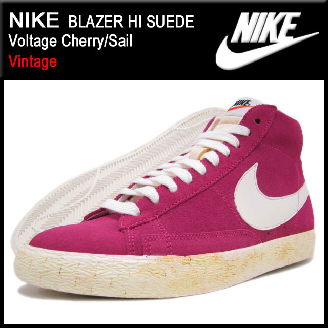 cheap for discount 258ba 61570 Nike NIKE sneakers Blazer Hi suede Voltage Cherry/Sail vintage men's  (men's) (nike BLAZER HI SUEDE Vintage 344344-602) ice filed icefield