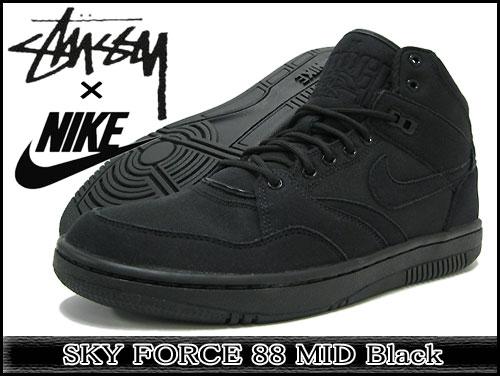 Nike Sky Force 88 Mid x Stussy Black (454452-001)