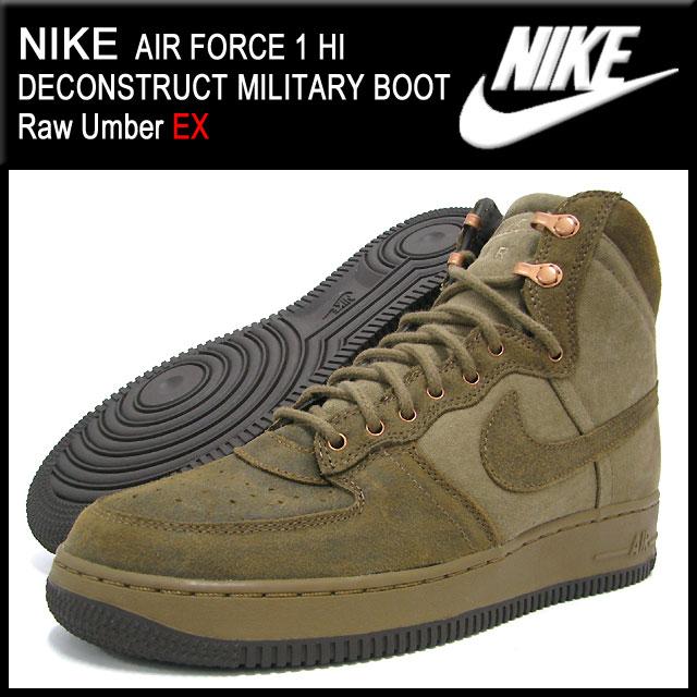 best cheap e61ad 413de ... Nike NIKE sneakers air force 1 Hi deconstruct military boots Raw Umber  EX men (men s ...