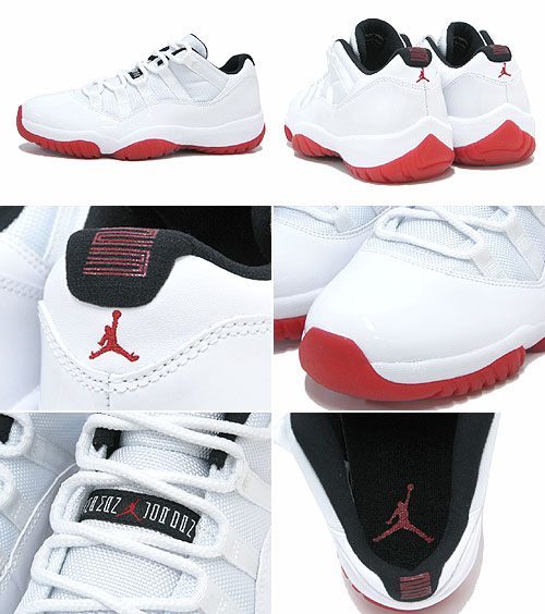 cbd31d4932a Nike NIKE sneakers Air Jordan 11 retro low White Varsity Red Black non  future men s (men s) (nike AIR JORDAN 11 RETRO LOW Non-Future 528895-101)  ice filed ...