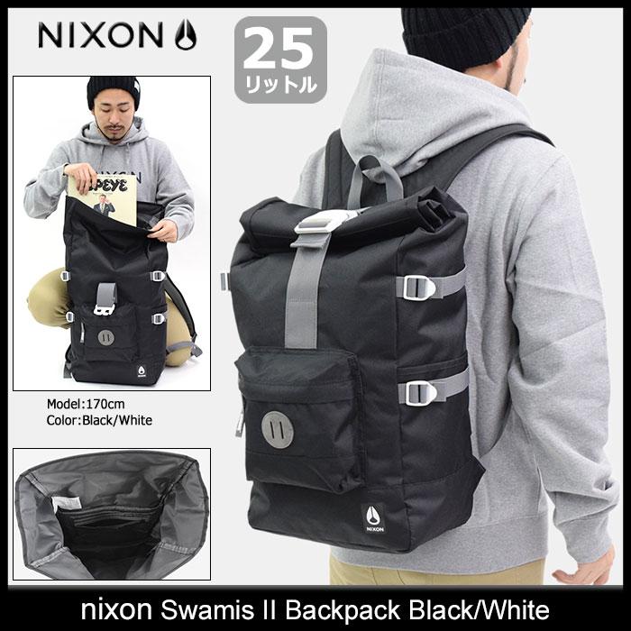 ニクソン nixon リュック スワミス 2 バックパック ブラック/ホワイト(nixon Swamis II Backpack Black/White Bag バッグ Daypack デイパック 普段使い 通勤 通学 旅行 メンズ レディース ユニセックス 男女兼用 NC2823005)