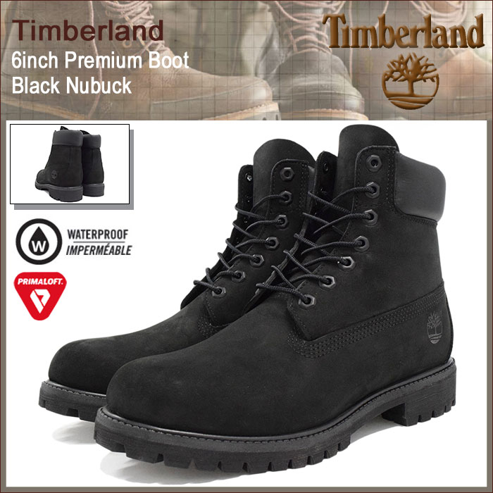 Timberland Timberland 6 inch premium black nubuck boots men (men for men) ( timberland
