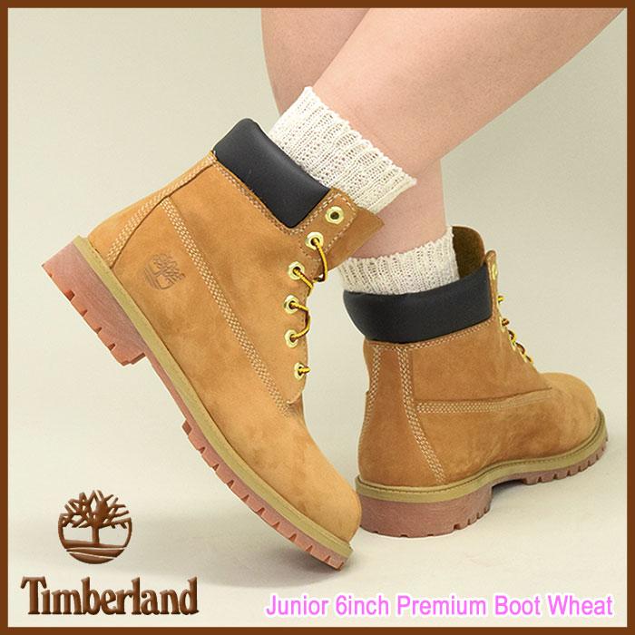 Timberland junior Timberland 6 inch premium ウィートヌ back boots ladies (ladies) timberland Junior 12909 6inch Premium Boot applied ice filed icefield