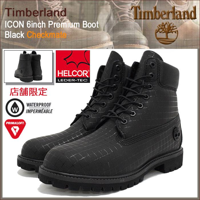 【日本正規品】ティンバーランド Timberland ブーツ メンズ 男性用 アイコン 6インチ プレミアム ブラック チェックメイト(timberland A17ZL ICON 6inch Premium Boot Black Checkmate HELCOR 防水 BOOTS 男性 紳士用 MENS・靴 メンズ靴)