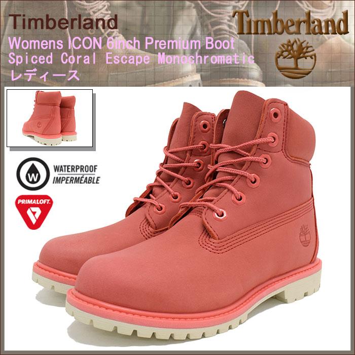 【日本正規品】ティンバーランド Timberland ブーツ ウィメンズ アイコン 6インチ プレミアム Spiced Coral Escape Monochromatic(timberland A1AQK Womens ICON 6inch Premium Boot 防水 定番 シックスインチ 女性用 LADYS・靴 レディース靴)