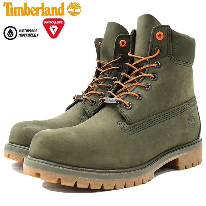 【日本正規品】ティンバーランド Timberland ブーツ メンズ 男性用 6インチ プレミアム Dark Green Nubuck(timberland A1QY1 6inch Premium Boot グリーン 緑 防水 男性 紳士用 MENS・靴 メンズ靴)