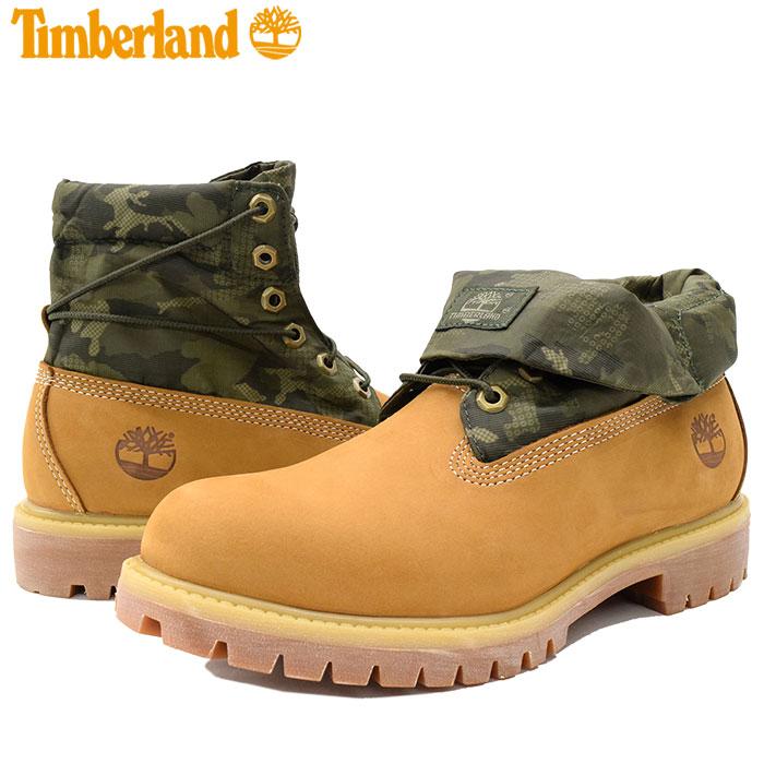 Timberland Men's Basic Single Roll Top Boot, Wheat Nubuck