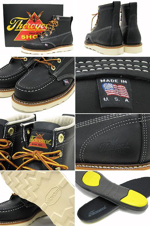 cf8ca32b31d 814-6201 6 6 solo good THOROGOOD mock toe boots black oil leather men  (men's for men) (thorogood Thorogood Moc Toe Boot Black solo good OUTDOOR  boots) ...