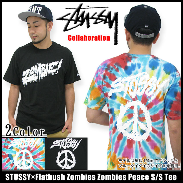 c366e52b15e7d ... Stussy STUSSY times Flatbush Zombies Zombies Peace T shirt short sleeve  collaboration (stussy tee tee ...