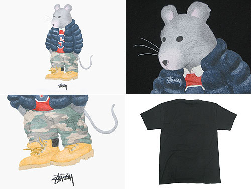 suteyushi STUSSY Thug Rat T恤短袖(供stussy tee T恤T-SHIRTS顶端人、男性使用的1903183 Stussy stussy二海洋朱熹)ice filed icefield