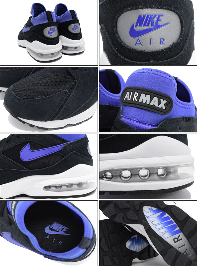 finest selection 9e74c a5591 Nike NIKE sneakers Air Max 93 Black Persian Violet Metallic Silver men s  limited edition (men s) (nike AIR MAX 93 NSW BEST Sneaker MENS-shoes shoes  SHOES ...