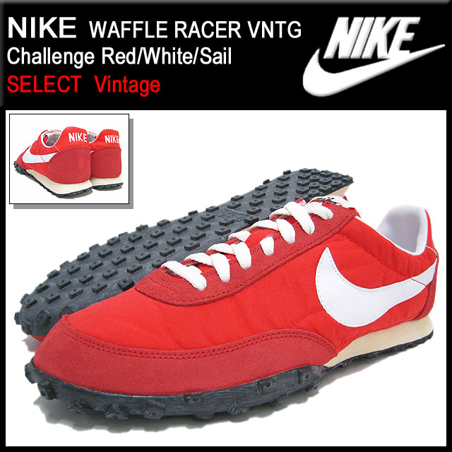 new product ba85c 654b8 Nike NIKE sneakers waffle racer VNTG Challenge Red White Sail limited  edition men s (men s) (nike WAFFLE RACER VNTG SELECT Vintage Sneaker  sneaker SNEAKER ...