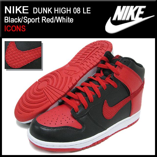 Nike NIKE dunk Hi 08 LE Black/Sport Red/White ICONS men (men's) (nike DUNK  HIGH 08 LE ICONS Sneaker sneaker SNEAKER MENS-shoes shoes SHOES sneaker ...