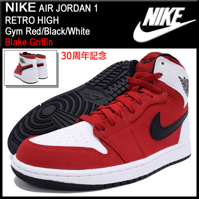 Nike NIKE sneakers Air Jordan 1 retro high Gym Red Black White 30  anniversary commemorative men (men s) (nike AIR JORDAN 1 RETRO HIGH  qualified ... 6203965fd